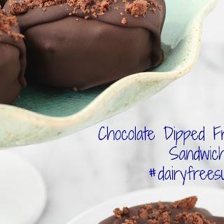 Chocolate Dipped Frozen Dessert Sandwiches