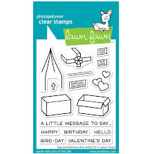 Lawn Fawn Clear Stamps 3X4 - Special Delivery Box Add-On