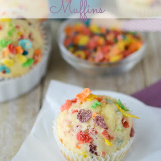 Fruity Pebbles Muffins.