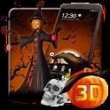 3D Halloween Pumpkin Night Theme icon