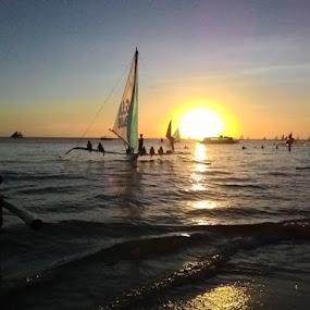 Sunset by Greg Crisostomo - Instagram & Mobile Android ( shore, sunset, sea, seascape, beach )