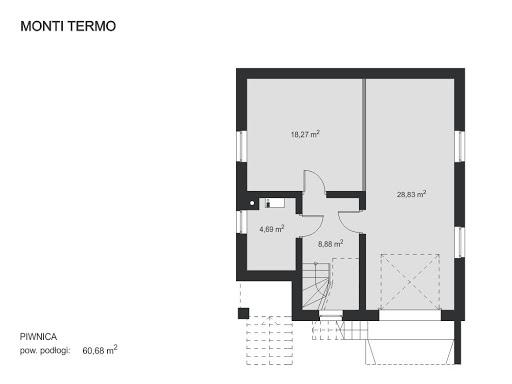 Monti Termo - Rzut piwnicy