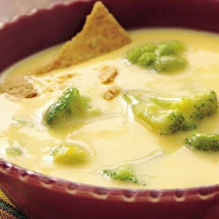 Cheddar Cheese and Broccoli Soup.