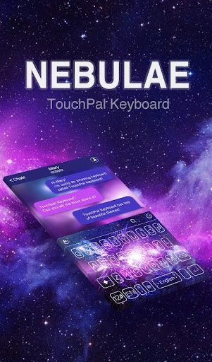 Purple Nebulae Keyboard Theme
