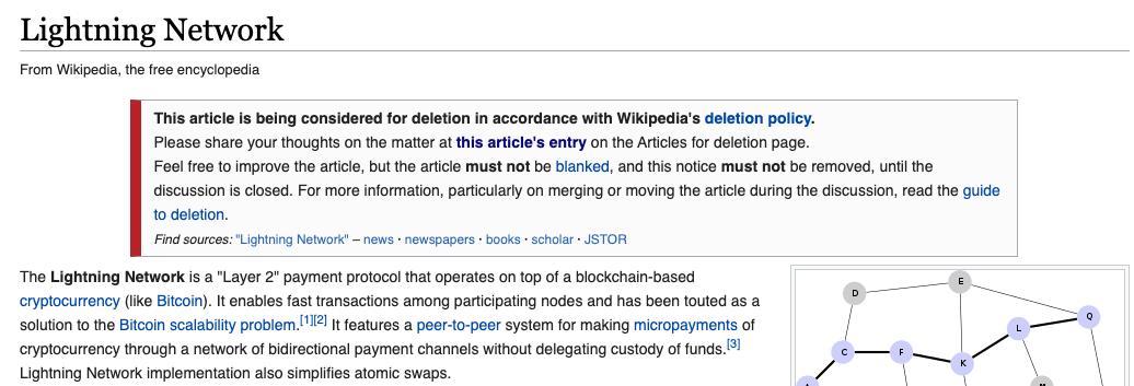 """""""Esse artigo está sendo considerado para exclusão de acordo com a política de exclusão da Wikipédia."""""""