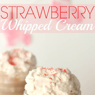 Easy Strawberry Whipped Cream + Valentine's Day Hot Cocoa.