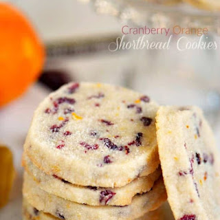 Cranberry Orange Shortbread Cookies Recipe