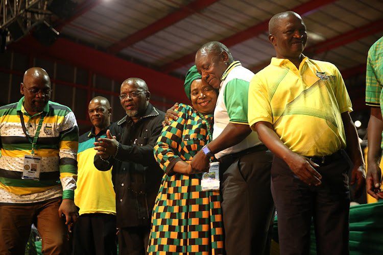 New ANC president Cyril Ramaphosa hugs his opponent, Nkosazana Dlamini-Zuma, as she conceded the race on Monday evening. Ramaphosa won by 179 votes more than Dlamini-Zuma, who had received 2,440 votes. Mpumalanga Premier David Mabuza won the deputy presidency of the party. Former ANC secretary-general Gwede Mantashe will remain in the top six after he won the position of national chairperson, while Ace Magashule is the new secretary-general of the party.