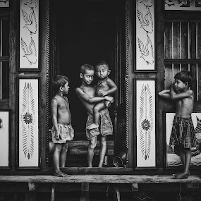 ...Four Brothers... by Rahat Amin - Babies & Children Child Portraits