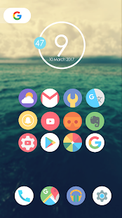 Flat Moon - Icon Pack Screenshot