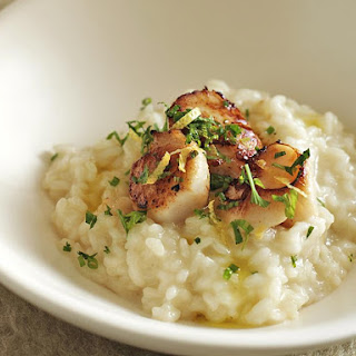 Seared Scallops with Risotto