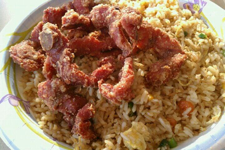 Photo of New Big Daddy's Chinese Restaurant - Oakland, CA, United States. Dry fried ribs & fried rice