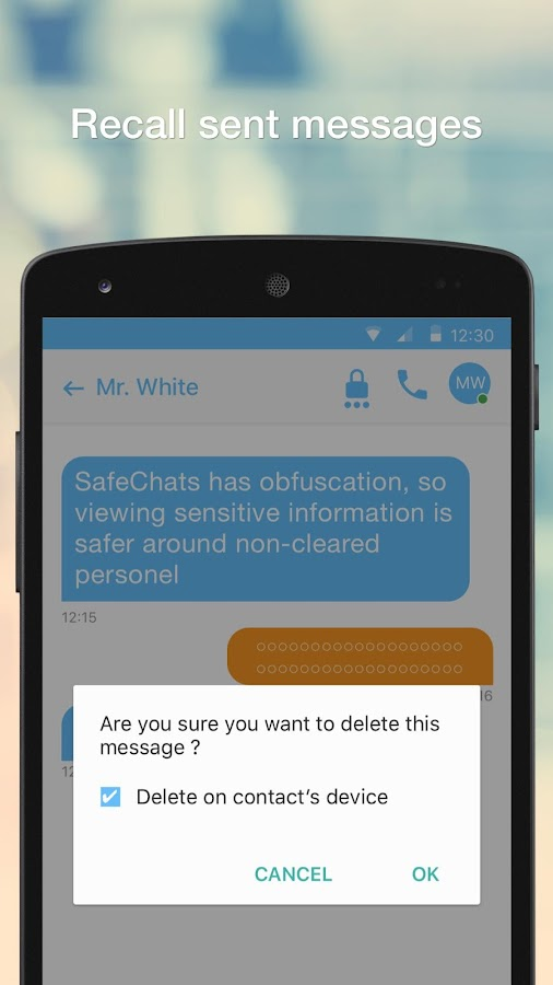 SafeChats- screenshot