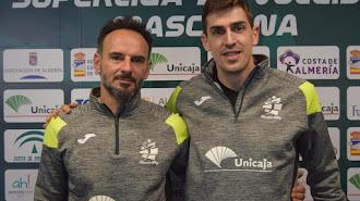 Manolo Berenguel y Jorge Almansa en el Moisés Ruiz.