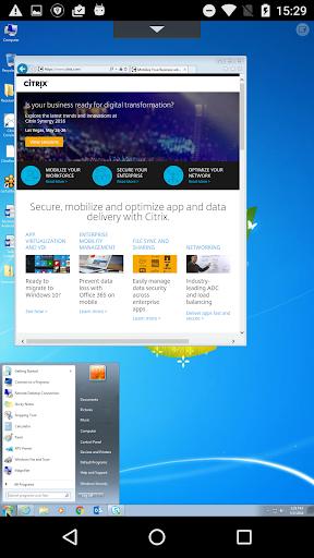 Citrix Receiver Screenshot
