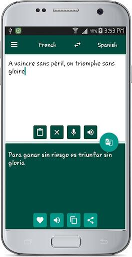 French Spanish Translate 1.1 screenshots 2