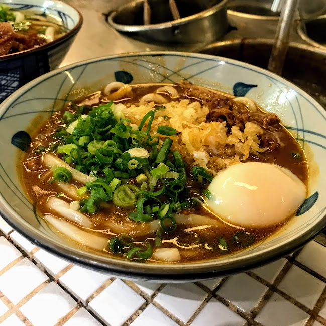 Curry udon with soft-boiled egg, Marukame Udon (Honolulu)