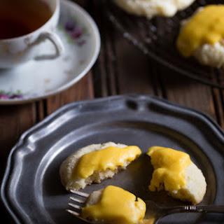 Gluten Free Iced Lemon Crinkle Cookies.