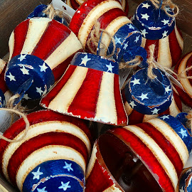 Red,White And Blue by Millieanne T - Artistic Objects Other Objects
