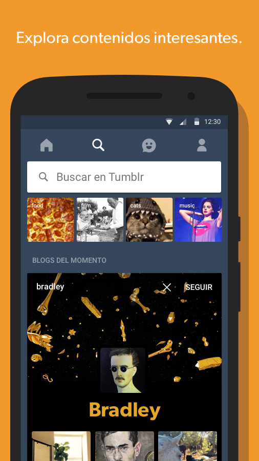 Tumblr: captura de pantalla