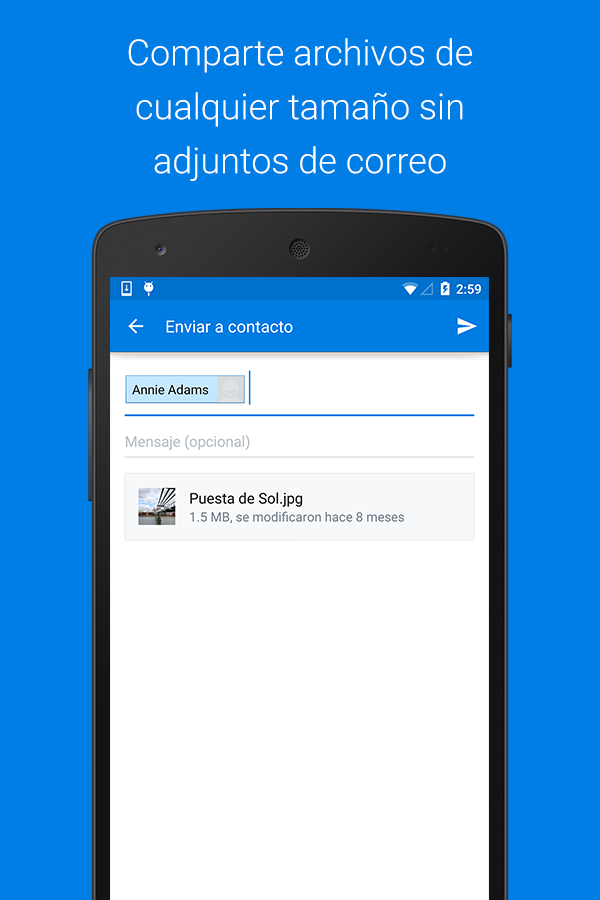 Dropbox: captura de pantalla