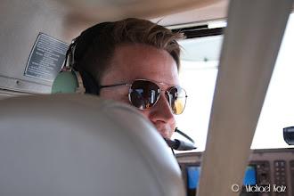 Photo: Og Ola er pilot på turen fra Kjeller til Aarhus
