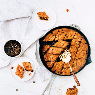 A Giant Chocolate Chip Skillet Cookie