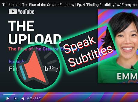 Youtube Subtitles Speaker