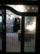 Photo: Old Town Grain and Feed back entry, Antique glass, leaded glass, stained glass. Door