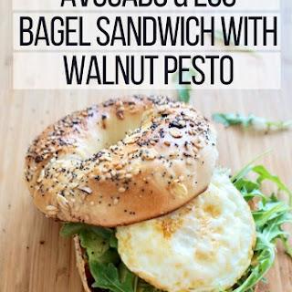 Avocado & Egg Bagel Sandwich with Walnut Pesto Recipe