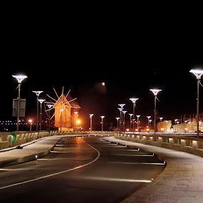 Nesebar-Bulgaria by Stoyan Katinov - City,  Street & Park  Street Scenes ( black sea, sky, by night, nesebar, seaside, bulgaria )