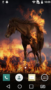 Burning horse live wallpaper screenshot 2