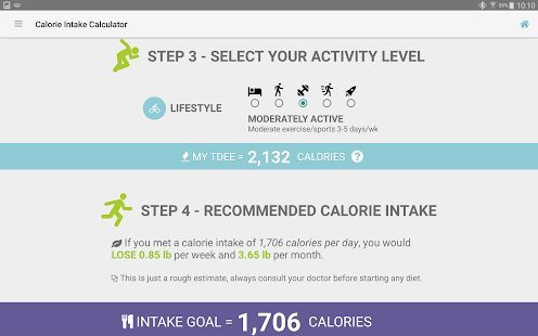 Calories Intake Calculator- screenshot thumbnail