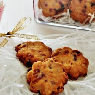 Almond Cranberry Cookies.