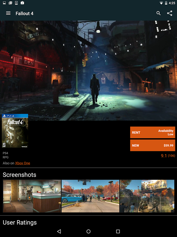 GameFly- screenshot
