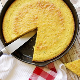 Buttermilk Cornbread in Cast Iron Skillet