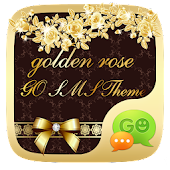 GO SMS PRO GOLDEN ROSE THEME