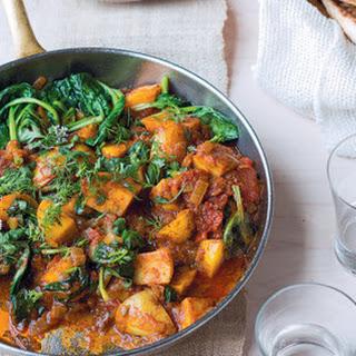 Potato And Spinach Vindaloo