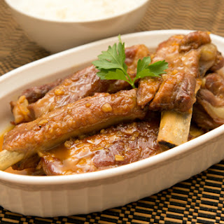 Braised Pork Spare Ribs with Orange Juice (Adapted from Christine's Recipes).