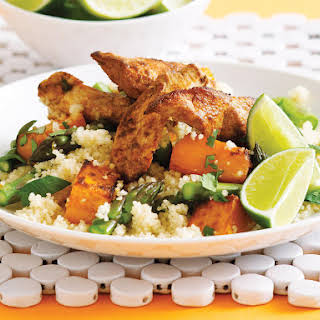 Spiced Chicken with Asparagus Couscous.