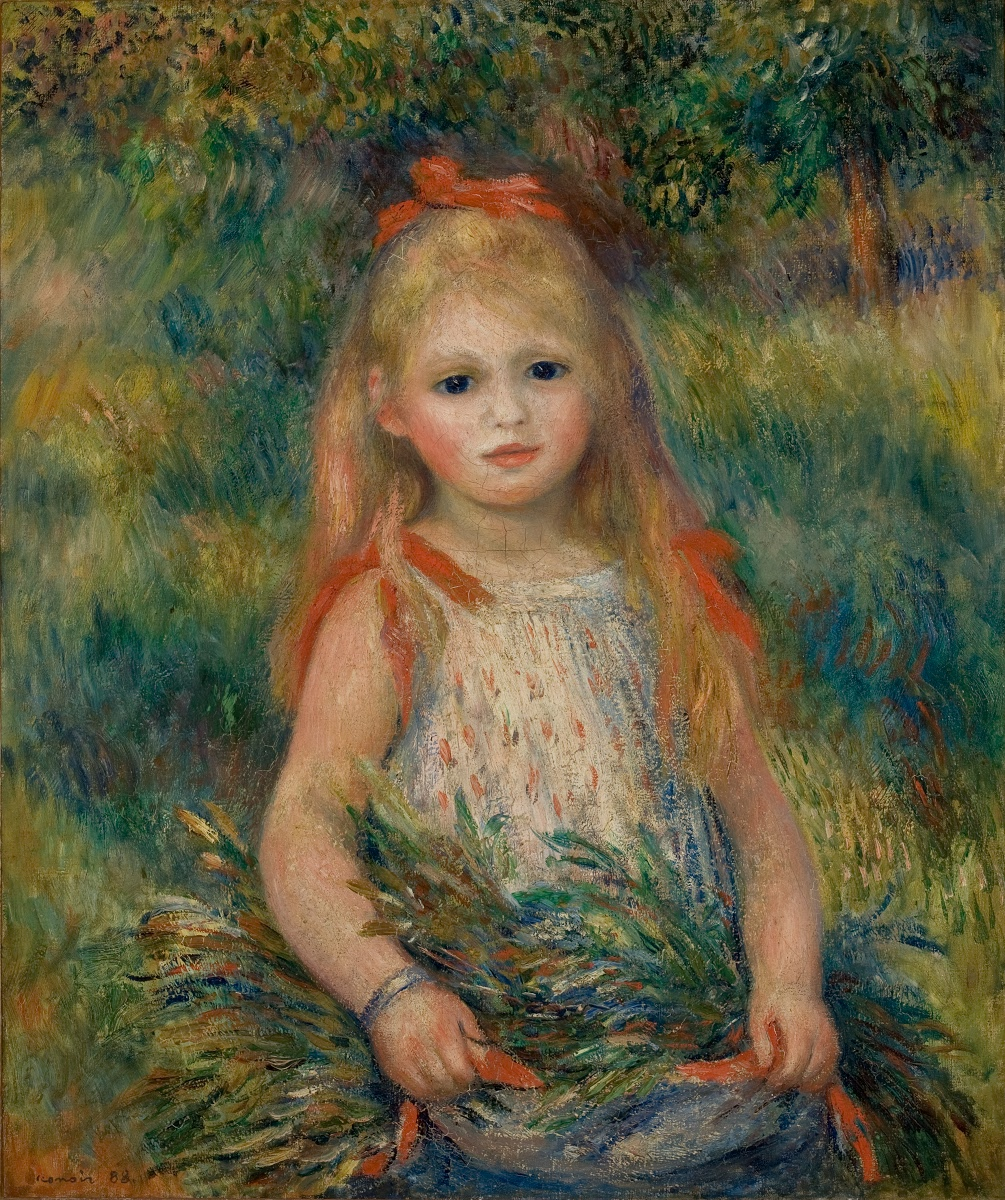 Girl with Flowers - Pierre-Auguste Renoir — Google Arts & Culture