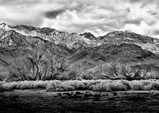 Photo: Here's a shot taken in the eastern Sierra Nevada mountains this past weekend. Nevermind the fact I was standing in a gas station parking lot at the time... #monochromemonday curated by +Siddharth Pandit  #mountainmonday curated by +Michael Russell  #moodymonday curated by +Philip Daly