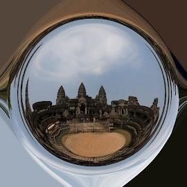 Angkor Wat by Hale Yeşiloğlu - Digital Art Places ( art, temple, historical, cambodia, angkor wat )