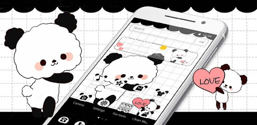 Cute Cartoon Love Panda Theme Aplikasi Di Google Play