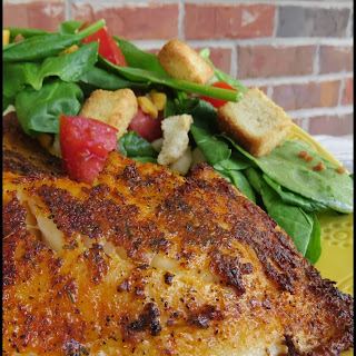 Blackened Fish on the Grill.