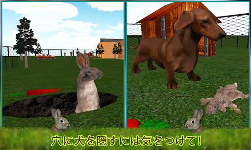 犬アタック3D Vsにペットのウサギ