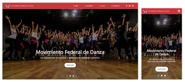 Sitio web Movimiento Federal de Danza