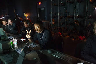 Photo: That's Frederick Van and the gang from Pixel Corps who were handling the live streaming duties backstage.