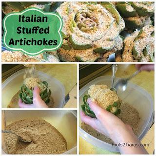 Easy Italian Stuffed Artichokes