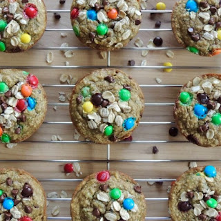 Zucchini Oat Monster Cookie Muffins {Gluten Free}.